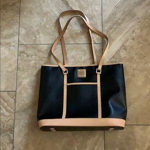 Like new Dooney and Bourke black tote bag
